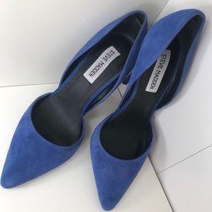Steve Madden Varcityy blue suede heels